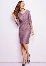 NWT TALBOTS WOMENS FULL LACE PAISLEY LINED HOLIDAY SHIFT DRESS SIZE 8  ($200)