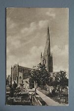 R&L Postcard: Derbyshire Card, Chesterfield Parish Church