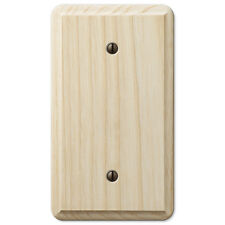 BLANK UNFINISHED ASH WOOD SWITCHPLATE WALLPLATE - STAIN/PAINT A FAVORITE COLOR
