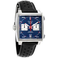 Tag Heuer Monaco Automatic Denim Blue Dial Mens Watch CAW211P.FC6356