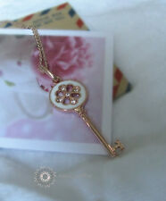 Swarovski Elements/Gold Plated Key Pendant Necklace/N089/090/084/207/413