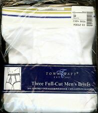 VINTAGE 3 in Pkg. JCPenney TOWNCRAFT Full Cut Men's Briefs Underwear Size 32 NWT