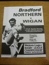 01/04/1984 Rugby League Programme: Bradford Northern v Wigan [Official Four Page