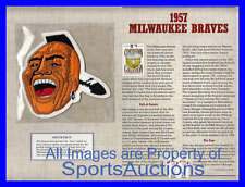 1957 MILWAUKEE BRAVES Willabee & Ward COOPERSTOWN COLLECTION BASEBALL TEAM PATCH