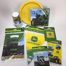 John Deere Party Supplies Pack Bundle Kids Birthday Green Tractor Kit Lot 3