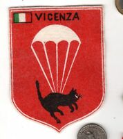 Unknown VICENZA Italy Airborne Wings Parachute Patch Para Jump Insignia Badge
