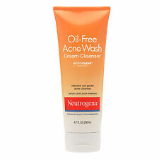 NEUTROGENA OIL FREE ACNE WASH CREAM CLEANSER 6.7 OZ.