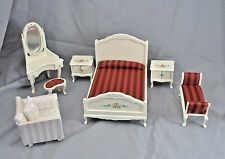 Bedroom Bed Set dollhouse furniture 7pc TLF218  1/12 scale wooden