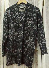 """Vintage 1990s CARLO COLUCCI Atenzione Metallic Jumper Snowflake Sweater 42"""" L"""