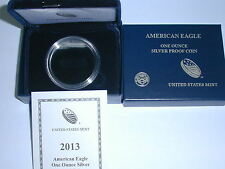 2013-W AMERICAN EAGLE ONE OUNCE PROOF SILVER COIN BOX (NO COIN)