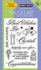 HERO ARTS Clear Stamps MARRIAGE # CL360 LOVE CHERISH WEDDING BEST WISHES