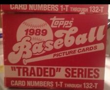 1989 Topps Traded/update Series Baseball Cards - Factory Set - Rookies - one set