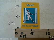 STICKER,DECAL HONKBAL TELESPORT DE TELEGRAAF,BASEBALL