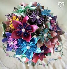 Paper Origami Flowers Wedding Bouquet / Paper anniversary /origami bouquet