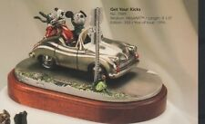 Goofy & Mickey Mouse hot Roding Route 66 Pewter Disney Figurine Lt Ed 350