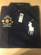 $98.50 SLIM FIT (S)POLO-RALPH LAUREN Navy  Mesh BIG PONY & CREST Polo Shirt
