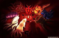 Poster A3 Naruto Shippuden Uzumaki Bijus