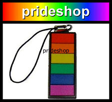 Rainbow Bar Mobile Phone Lanyard Keychain Charm Dangler Gay Lesbian Pride #776