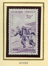 STAMP / TIMBRE FRANCE OBLITERE N° 1074 SPORT LE RUGBY