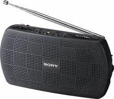 Brand NEW IN BOX SONY srf-18 portatile / Compatto Radio Nero