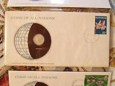 Coins of All Nations Suriname 25 cents 1976 UNC