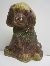 VINTAGE BROWN CHALK DOG BOOK END