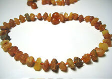 Raw Natural Baltic Amber Anklet/Bracelet    Adult - 10inch