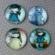 4 pcs 25mm Domed Round Cabochons Character cabochon G004