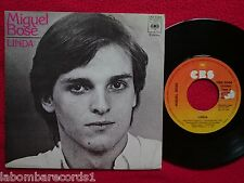 "MIGUEL BOSE linda 7"" SINGLE 1977 CBS SPAIN (EX/VG+) 3"