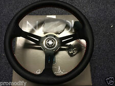 Nardi Style 350mm Leather Deep Dish Steering Wheel OMP MOMO Drifting Rally B