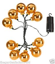 String Lights Christmas Decorations Gold Stellar Glass Bauble Light Battery