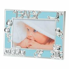 "Blue Baby Boy/New Born Photo Frame Silver Plated Icons-6X4""/10X15 cm BFA1015UE"