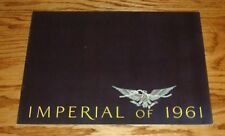 Original 1961 Chrysler Imperial Sales Brochure 61