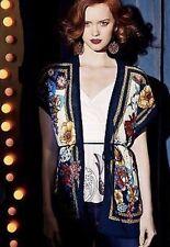 [Moth] Anthropologie Vintage Nocturne Kimono Floral Print Multicolor Sz. S/M