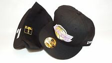 NEW ERA HAT CAP FITTED 59FIFTY LOS ANGELES LAKERS 7 1/8 BLACK YELLOW PURPLE NBA