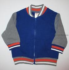 Gymboree Super Dude Fleece Blue Baseball Varsity Jacket Boy 12-24 months NEW NWT