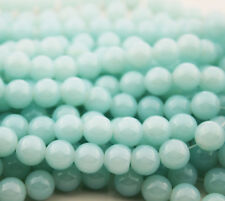 32pcs 8mm Round Glass Crystal Pearl Loose Spacer Beads SEA Green