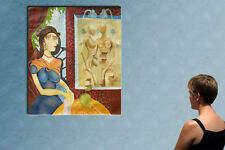 """55""""- DALI vs PICASSO   ------------ original  oil on canvas painting by  GUTA !!"""
