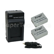2 x Battery + Charger Kit for Canon NB-10L PowerShot SX50 HS SX40 HS G15 G1 X
