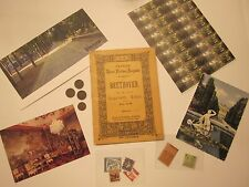 VIENNA ANTIQUES BEETHOVEN COINS STAMPS POST CARDS MAGNET 34 SOUVENIRS  #1