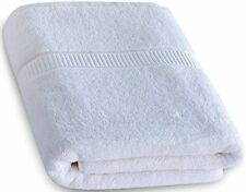 Luxury Bath Sheet Towel (White; 35 X 70 Inch) Cotton Extra Large Beach Bath And