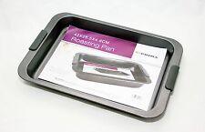 Non stick grillage cuisson plateau plat en silicone poignées cuisson 42cm x 28.5 cm