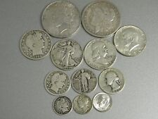 COMPLETE 20th CENTURY SILVER US TYPE COIN SET 13 DIFFERENT+MORGAN+PEACE+GOLD #50
