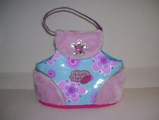 "Battat PUCCI PUPS Pet Dog Large Carrier Bag Purse Tote Fuzzy Pink 8.5"" Tall EUC"