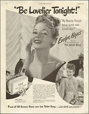 1946-Vintage Ad for Lux Toilet Soap`Evelyn Keyes~Actress (012315)