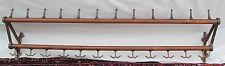 "INTERSTING 68"" 19TH CENTURY 12 STATION COAT & HAT HANGER RACK FROM TRAIN STATION"