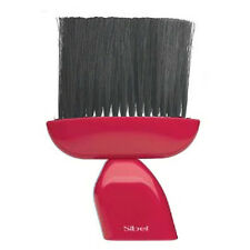 Sibel Hair Dressing Neck Brush RED Handle OUST Professional Itchy Hair Removal