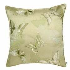 Catherine Lansfield luxury embroidered Butterfly green cushion cover
