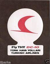 DC-10 Airline sticker THY Turk Hava Yollari