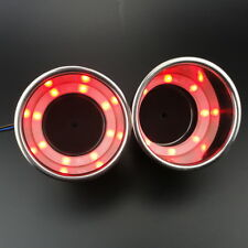LED Red Stainless Steel Cup Drink Holder Marine Boat Car Truck Camper